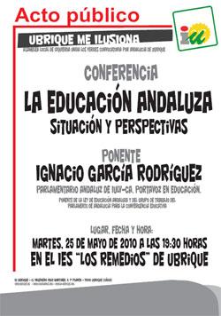 Conferencia La Educación Andaluza