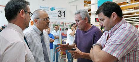 Cañamero y Romero en el Carrefour