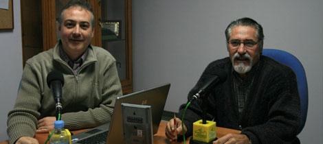 Manuel Ramírez y Pepe García en Radio Ubrique