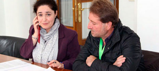 Inmaculada Nieto y Andrés Rebolledo en el Parlamento