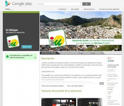 IU Ubrique en Google Play