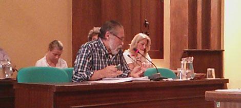 José García Solano en el Pleno