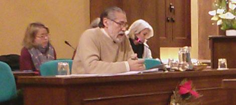 Pepe García durante el pleno