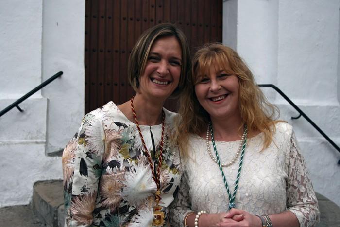 Pepi Morales junto a la Alcaldesa, Isabel Gómez