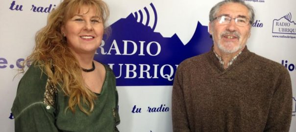 Pepi Morales y José García en Radio Ubrique