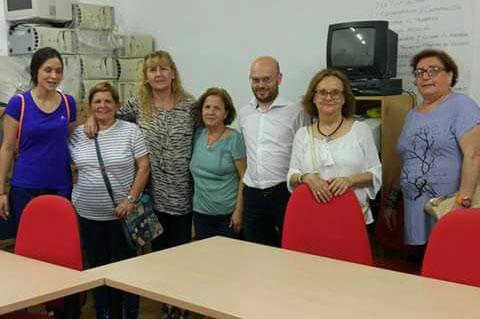 Con el colectivo solidario saharaui