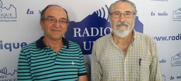 Miguel González y Pepe García en Radio Ubrique