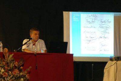 Antonio Morales durante la conferencia