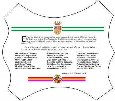 Diseño de la Placa Homenaje